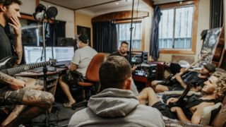 Parkway Drive in the studio