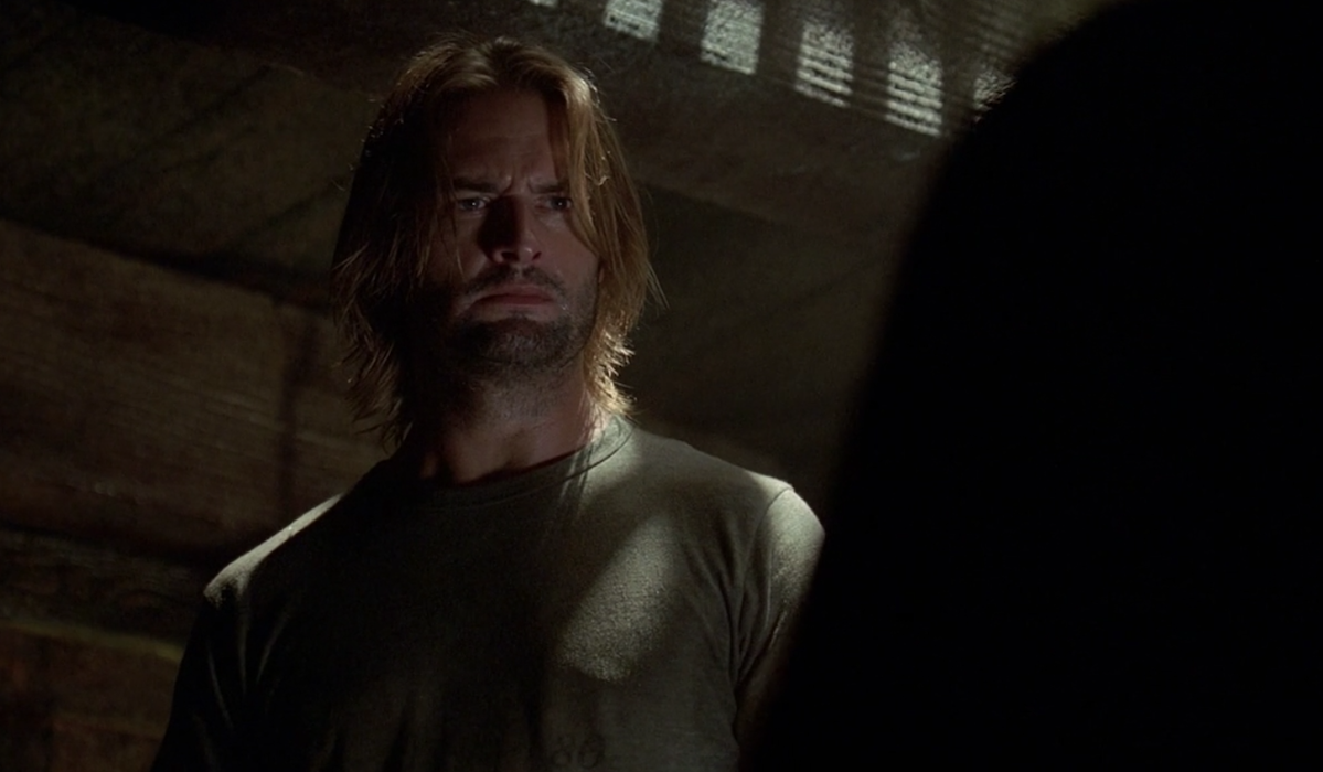 Josh Holloway as Sawyer in Season 3's episode The Brig