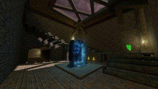 Quake Champions version of The Dark Zone map