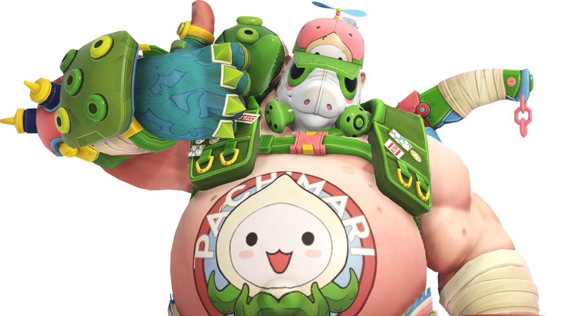 The Pachimari event skin for Overwatch's Roadhog is profoundly silly