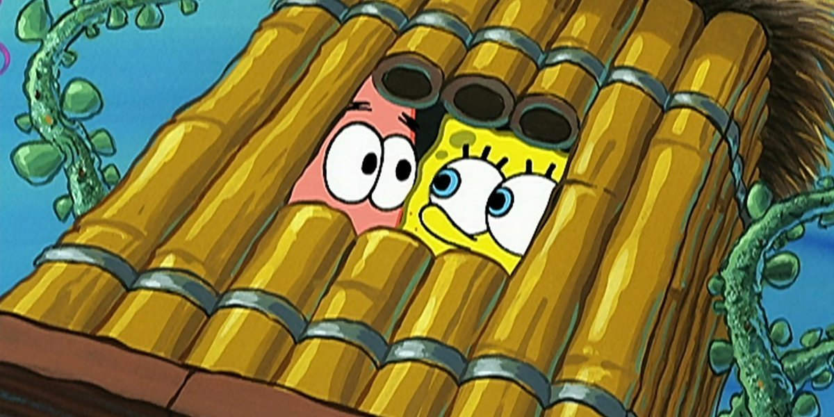 Spongebob and Patrick in Club Spongebob in Spongebob Squarepants.