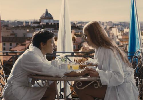 Room in Rome -  Alba (Elena Anaya) and Natasha (Natasha Yarovenko) spend a passionate night together in Rome