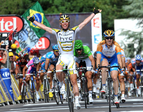 Mark Cavendish wins, Tour de France 2009 stage 11