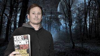 Tom DeLonge photoshopped on to a spooky UFO scene