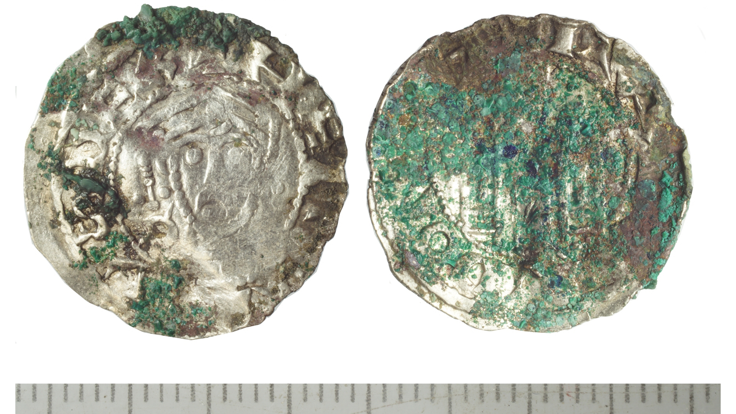 A denarius (silver coin) of Henry III, King of Germany