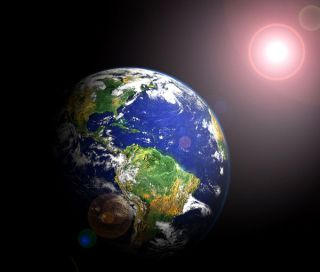 Earth completes its orbit around the sun every 365.2422 days.