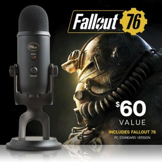Resultado de imagen para This $100 Blue Yeti mic comes with Fallout 76 for some reason