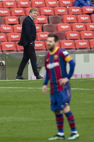 Barcelona boss Ronald Koeman was left frustrated as Cadiz snatched a late equaliser on Sunday