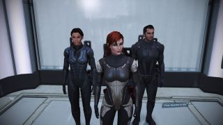 Riding an elevator in Mass Effect
