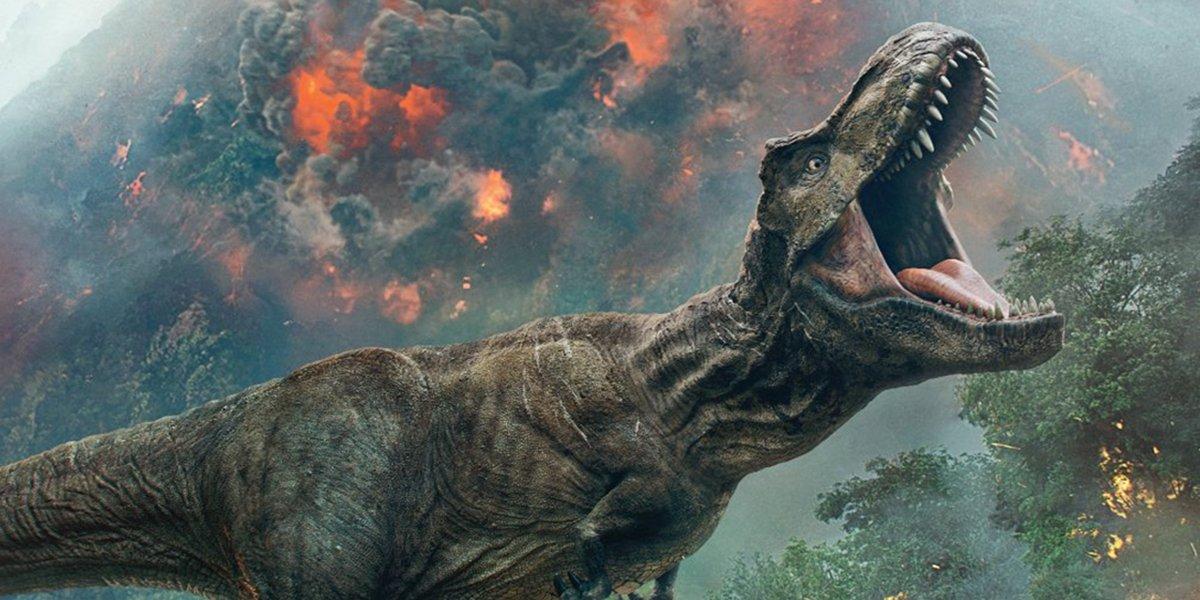The T-rex in Jurassic World: Fallen Kingdom