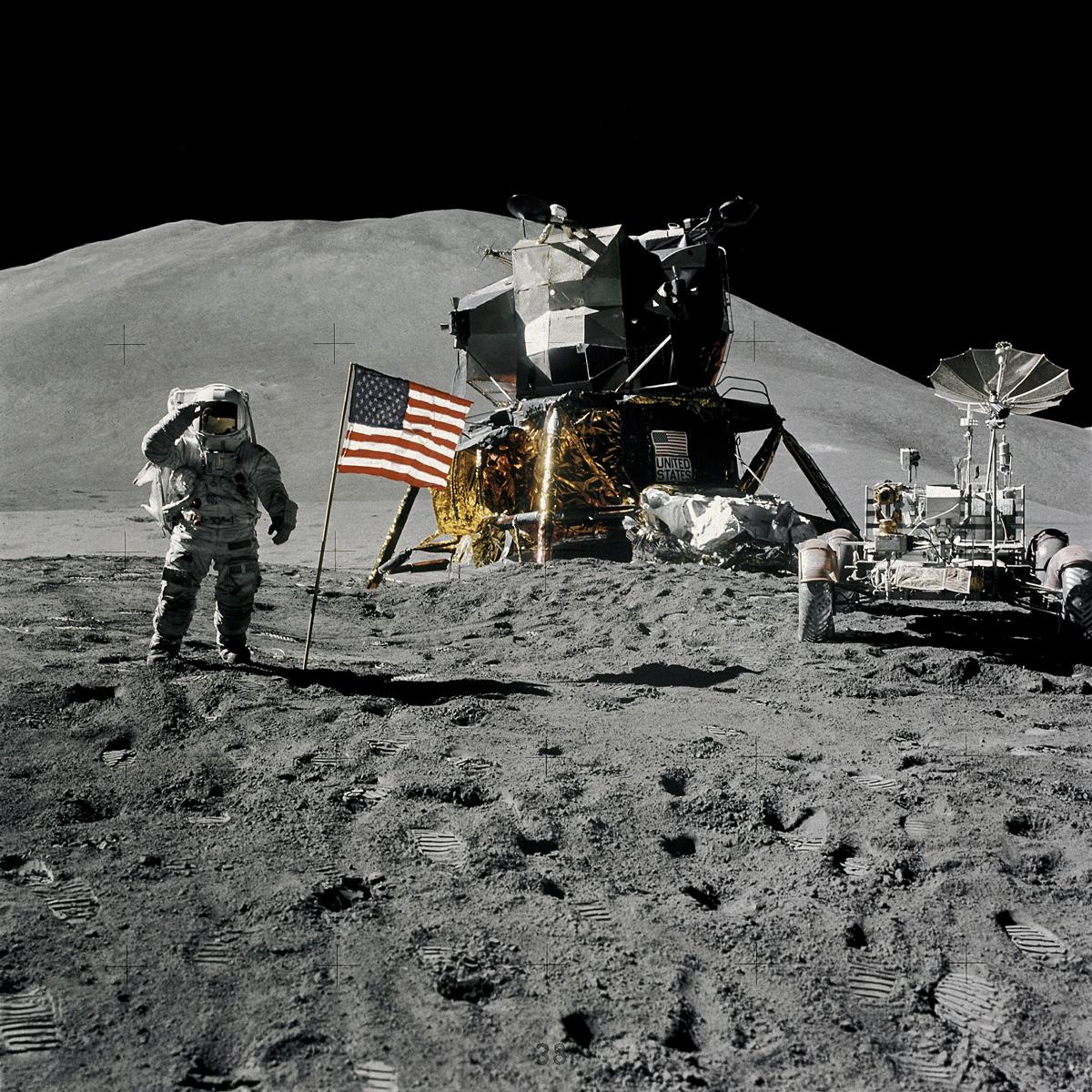 Apollo 15 Lunar Landing Mission Photos Space