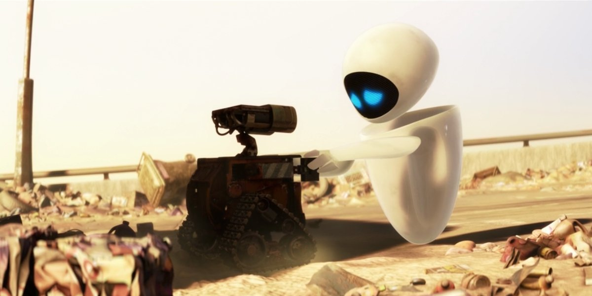 EVE attempting to restore WALL-E's memory