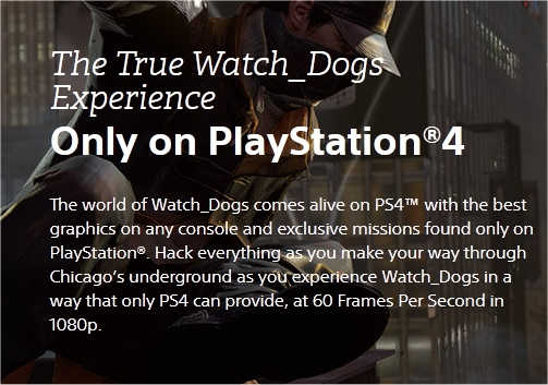 Watch Dogs Is 1080p, 60fps On PS4, According To Sony