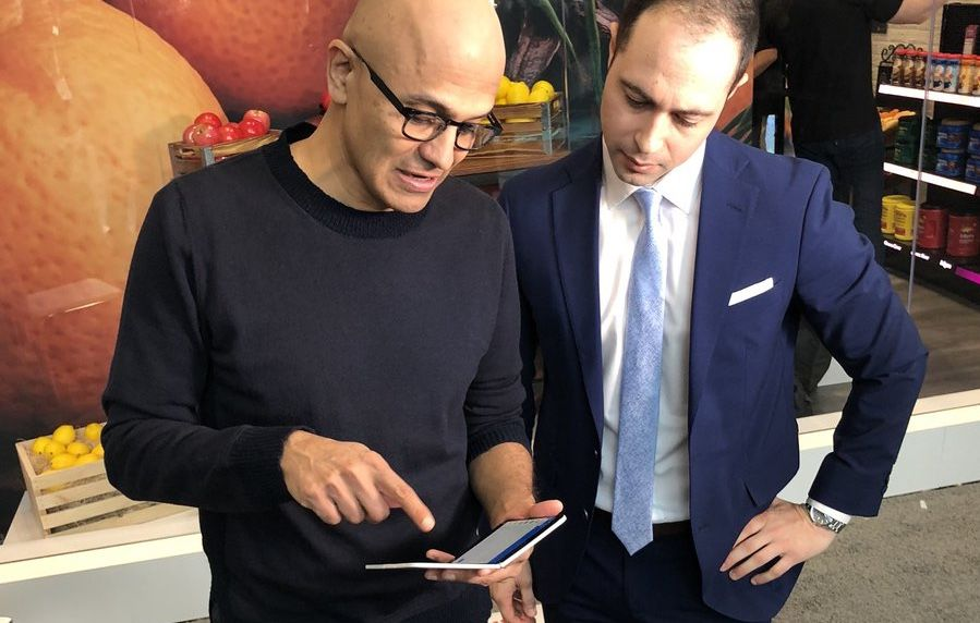 Microsoft CEO shows off Surface Duo, and it's 'darn slick'