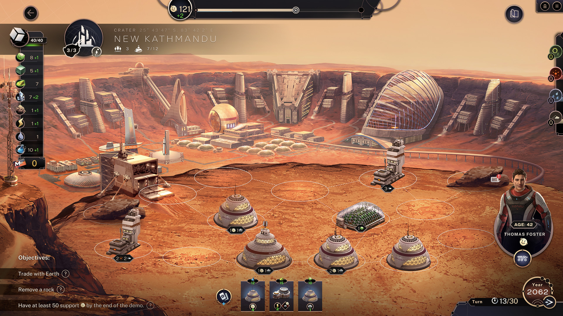 An image from Mars terraforming game Terraformers.
