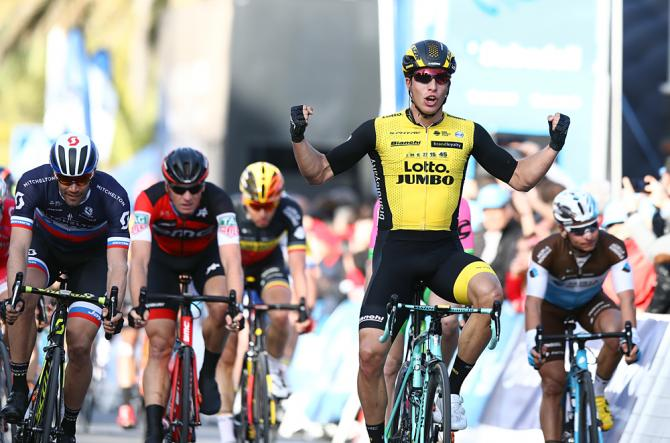 Danny van Poppel (LottoNl-Jumbo) wins the opening stage