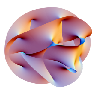 Superstring theory illustration