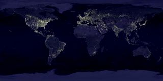 NASA's view of the Earth at night shows the extent of artificial lighting in 1994 and 1995.