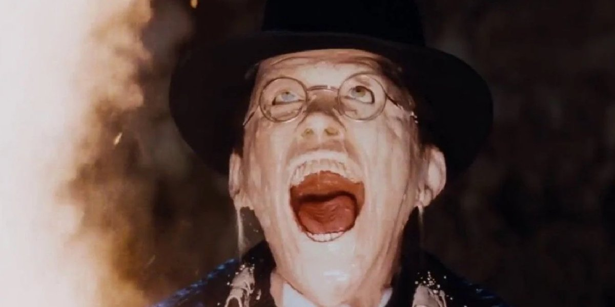 Toht's melting face from Raiders of the Lost Ark