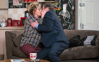 Johnny Connor turns up at at Liz's flat clearly drunk and the pair kiss passionately.