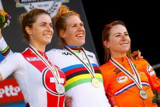 Ellen van Dijk (Netherlands) wins the time trial world title at the UCI Road World Championships 2021
