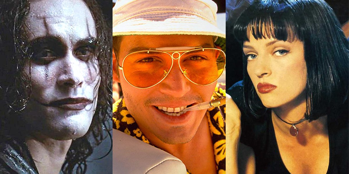 The Crow Fear and Loathing in Las Vegas Pulp Fiction