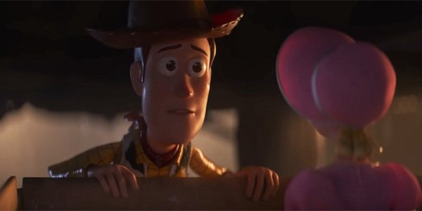 Bo Peep and Woody say goodbye in toy Story 4