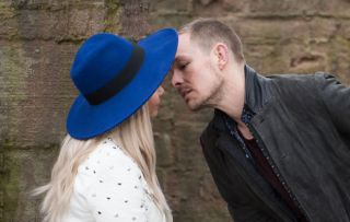 Kyle kisses Nancy in Hollyoaks