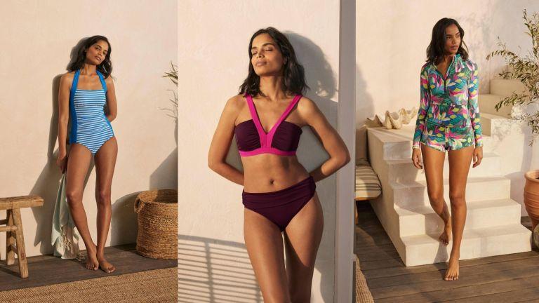 model wearing sustainable swimwear from Boden