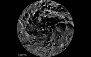 The cratered south pole of the moon can be seen in this image taken by NASA's Lunar Reconnaissance Orbiter.