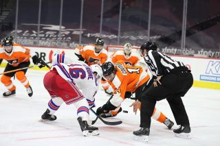 New York Rangers vs. Philadelphia Flyers in 2021