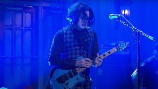 Jack White performs with an EVH Wolfgang on Saturday Night Live