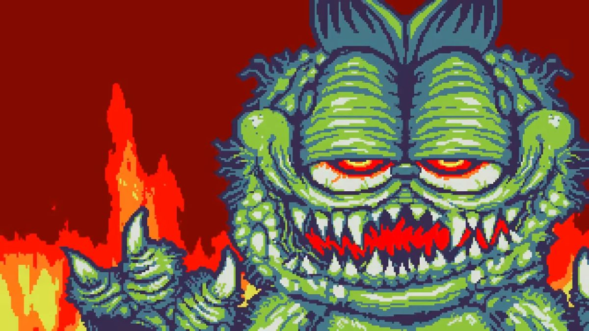 Watch A Terribly Mutated Garfield Chasing Jon In This Amazing Game Boy Horror Game Model