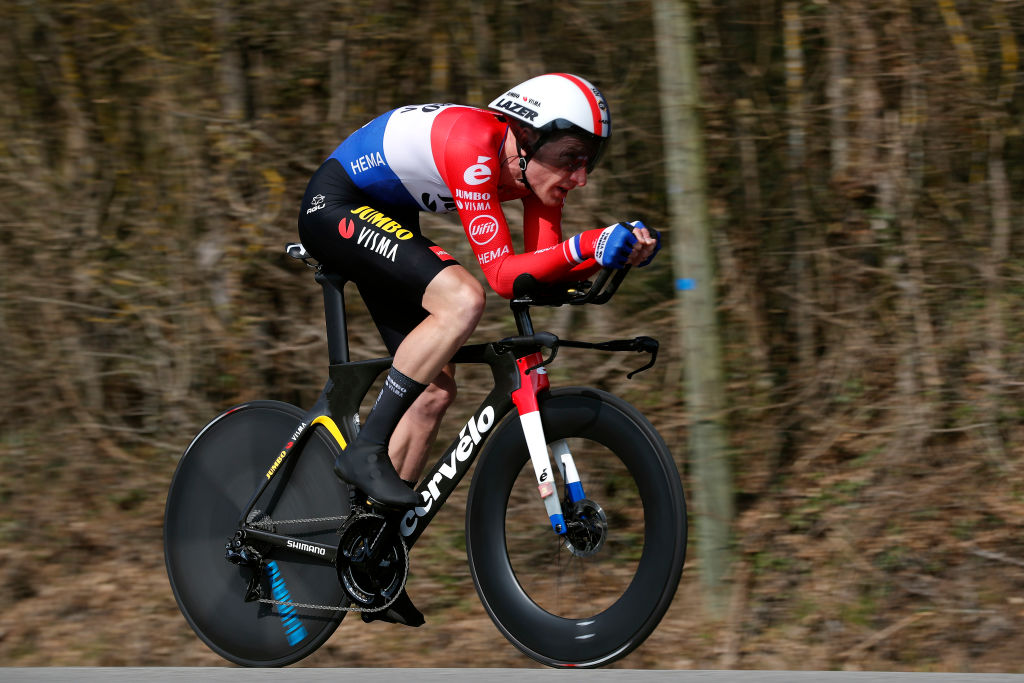 GIEN FRANCE MARCH 09 Jos Van Emden of Netherlands and Team Jumbo Visma during the 79th Paris Nice 2021 Stage 3 a 144km Individual Time Trial stage from Gien to Gien 147m ITT ParisNice on March 09 2021 in Gien France Photo by Bas CzerwinskiGetty Images