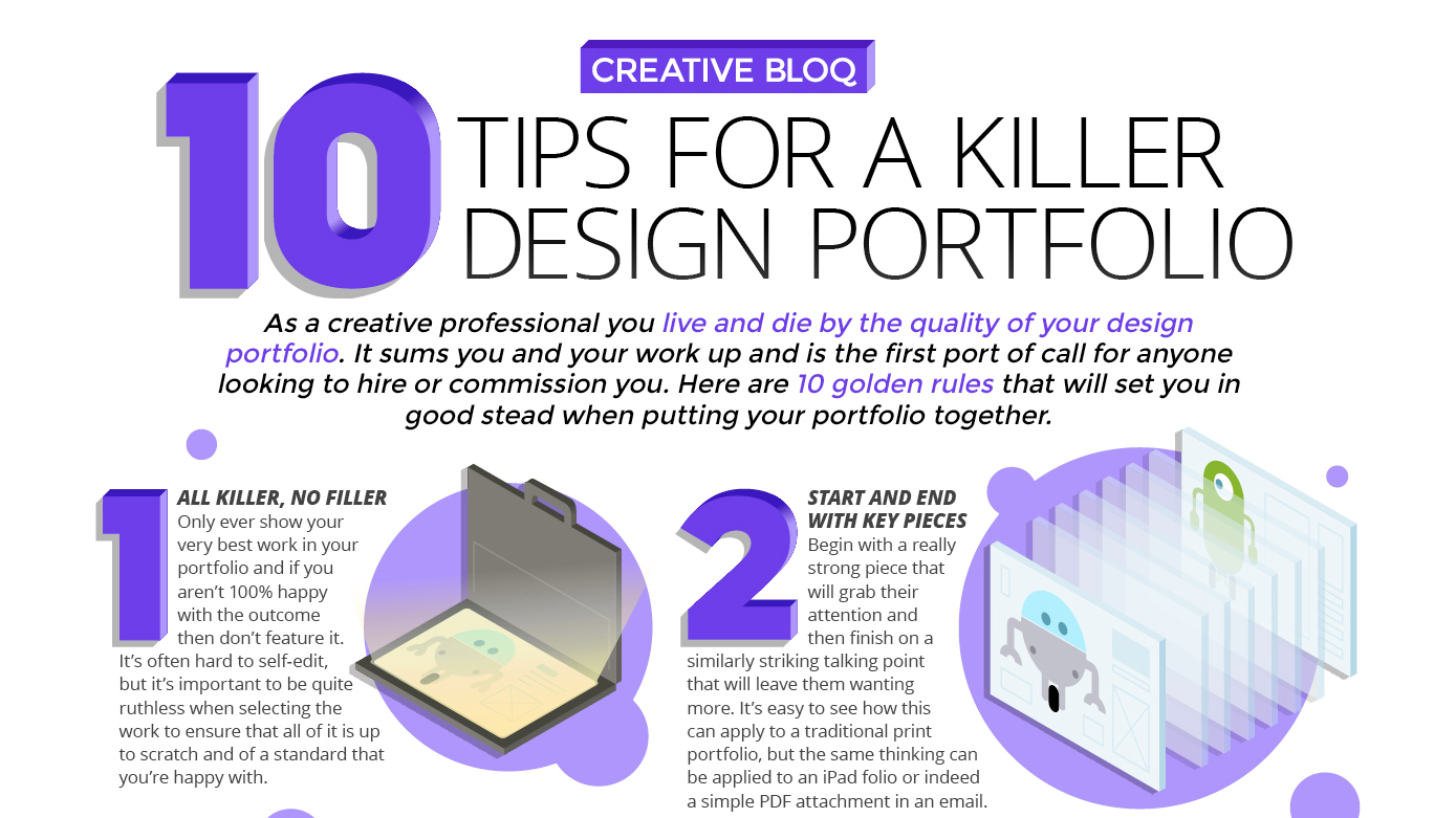 Hone your design portfolio to perfection with these 10 tips