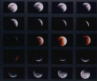 Composite images of Jan 2000 lunar eclipse