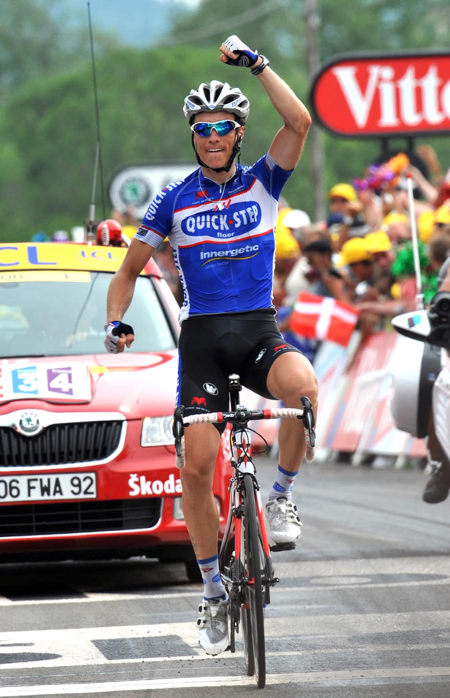 Sylvain Chavanel wins, Tour de France 2010, stage 7