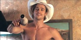 That Time Ridley Scott Personally Spritzed Brad Pitt Down With Water On The Set Of Thelma And Louise
