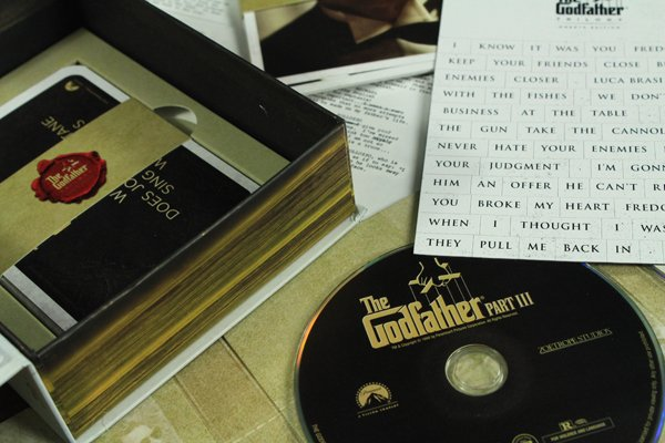 The Godfather Trilogy Blu-ray Set with script