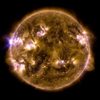 The sun erupted with an X1.7-class solar flare on May 12, 2013.