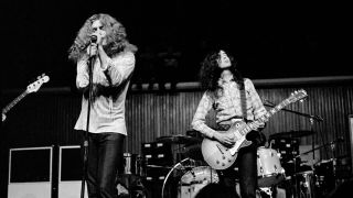 Robert Plant and Jimmy Page performing live in 1970
