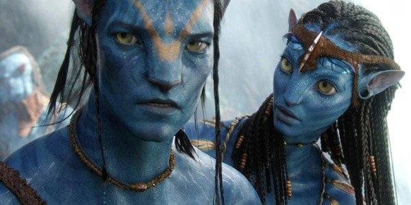 Jake Sully (Sam Worthington), with Neytiri (Zoe Saldana), sporting a look of tedium, much like the i
