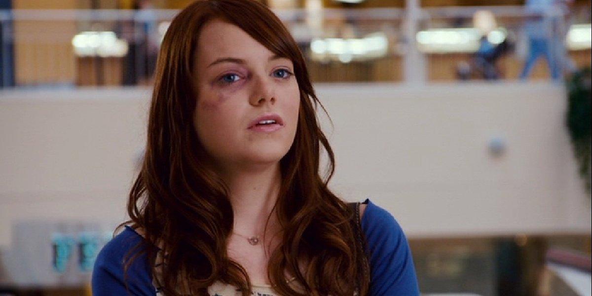 Emma Stone in the film, Superbad.