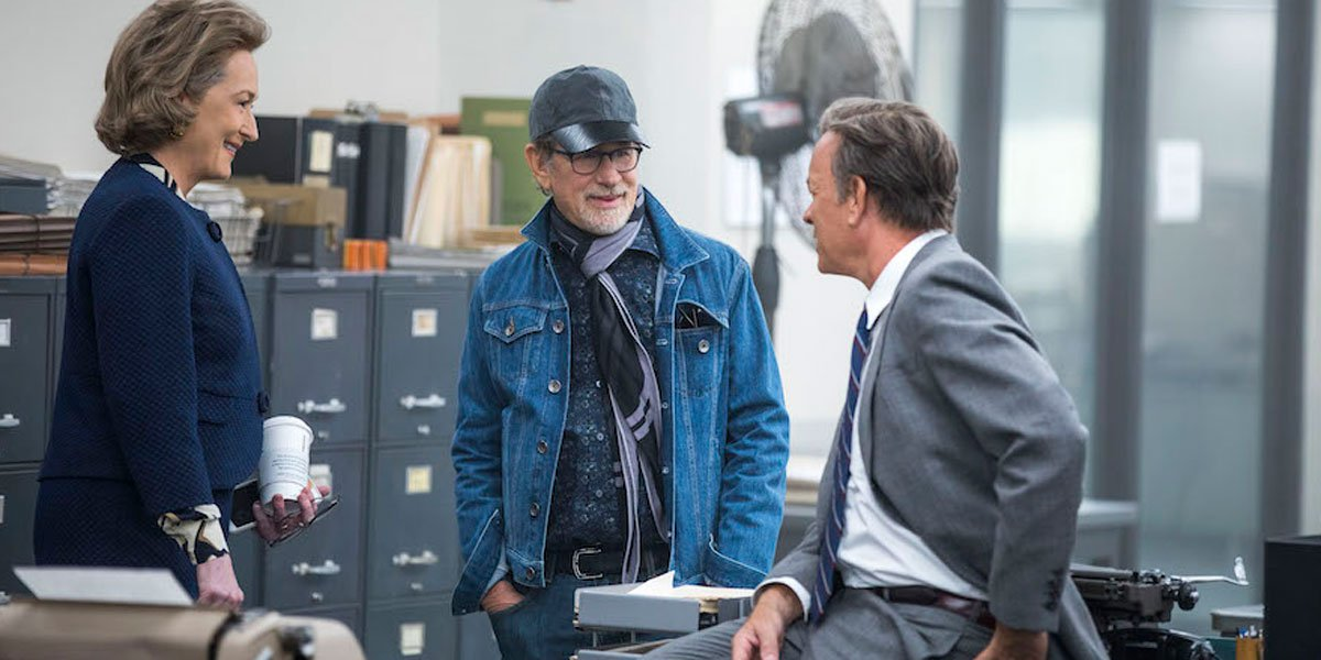 Steven Spielberg in Official The Post Image With Meryl Streep And Tom Hanks