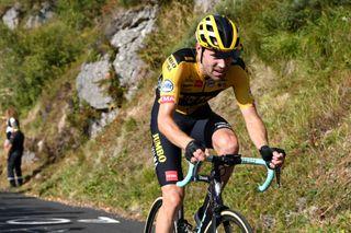 Tom Dumoulin (Jumbo-Visma) climbs during stage 13 of the 2020 Tour de France
