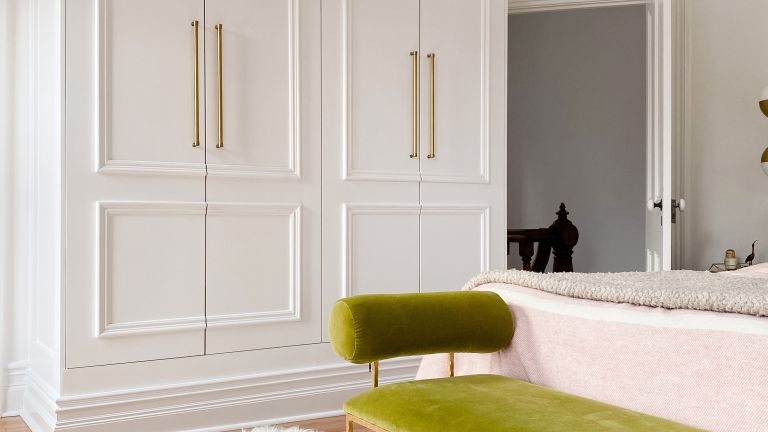 IKEA PAX makeover complete in master bedroom