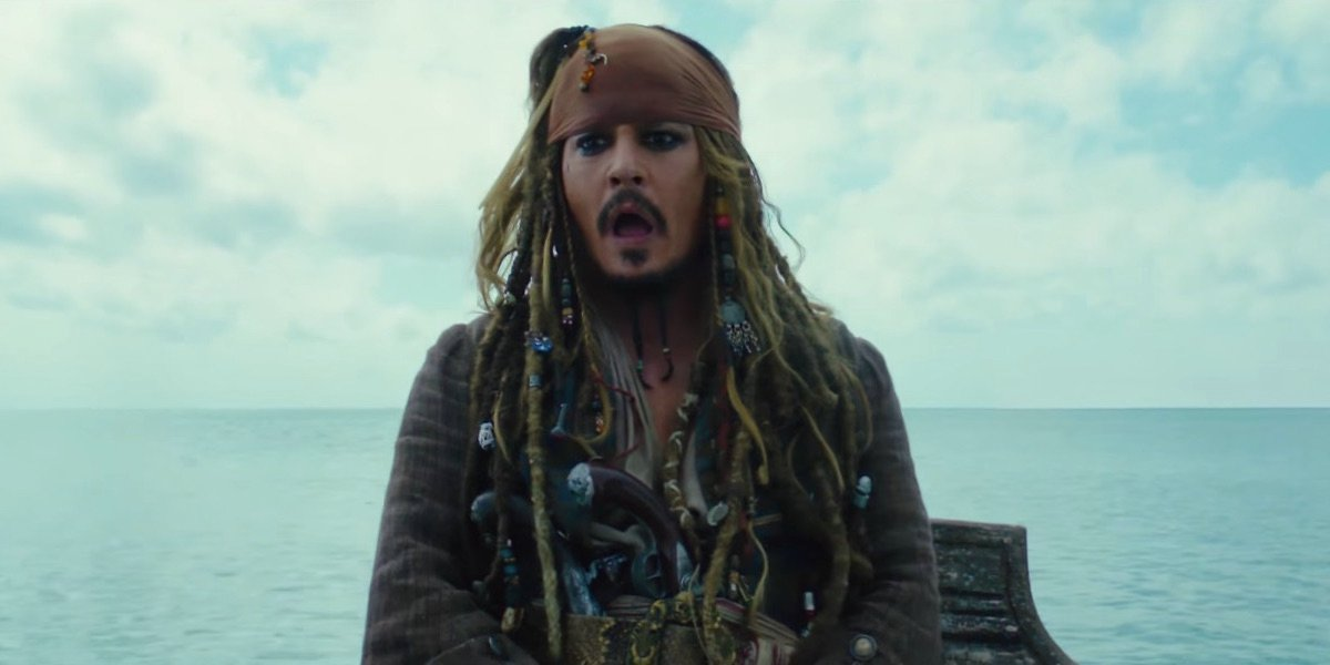 Jack Sparrow in Pirates of the Caribbean