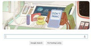 Google Douglas Adams Doodle