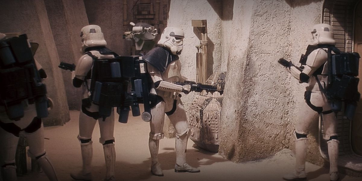 Stormtroopers in Star Wars: A New Hope