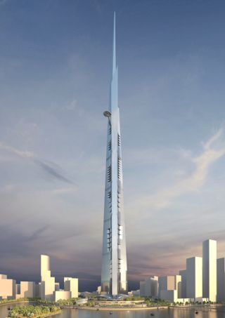 Architectural rendering of Kingdom Tower, a building designed by Adrian Smith and Gordon Gill that is set to become the world's tallest building in 2016. Credit: Adrian Smith + Gordon Gill Architecture